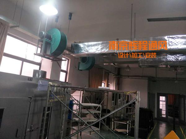 滁州电子厂焊接车间排烟管道安装